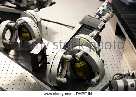 Parti di macchina in un workshop a Paranal Observatory Foto Stock
