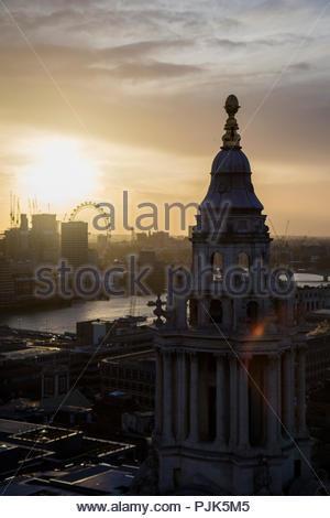 St-Paul Cattedrale vista dal tetto, Londra, Regno Unito. Foto Stock