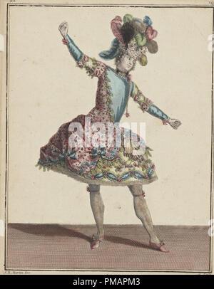 Signora in costume d'epoca illustrazione Foto Stock