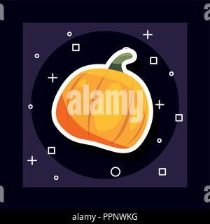 Festa di halloween giorno simboli zucca sfondo illustrazione vettoriale Foto Stock