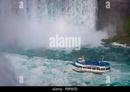 La Domestica della Foschia, Niagara Falls Foto Stock