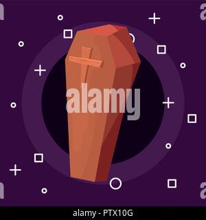 Happy halloween bara simboli sfondo illustrazione vettoriale Foto Stock