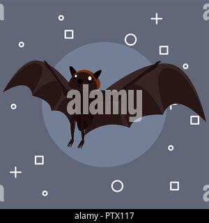 Happy halloween bat simboli sfondo illustrazione vettoriale Foto Stock