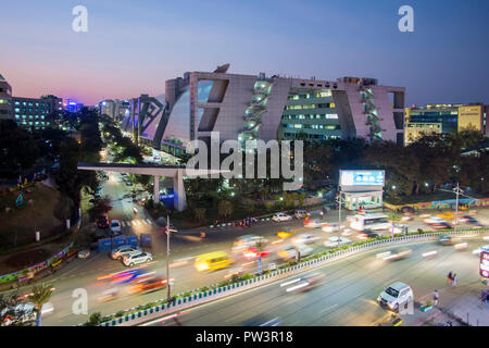 India, Hyderabad, capitale dello stato di Telangana, (Andhra Pradesh), Hi Tech City, India del centro IT Foto Stock