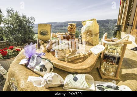 Montona d'Istria Istria Croazia, cibo tradizionale, Croazia, Istria, Motovun Foto Stock