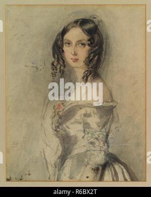 Vintage lady vittoriana ritratto classico artwork Foto Stock