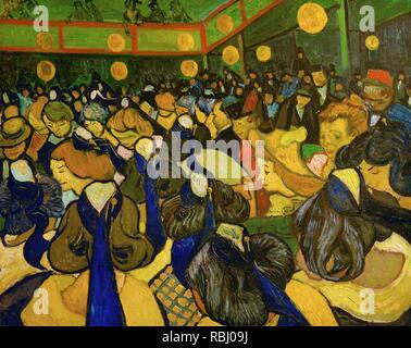 La Salle de danse à Arles / La Dance Hall di Arles. Data/Periodo: 1888. La pittura. Olio su tela. Altezza: 650 mm (25.59 in); larghezza: 810 mm (31.88 in). Autore: Vincent van Gogh. VAN GOGH, VINCENT. Foto Stock