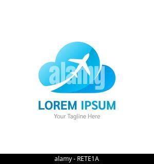 Viaggio aereo logo design template vector illustrazione for Aziende di design