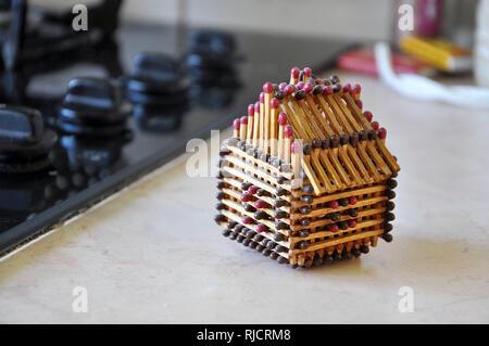 Modello di una casa da partite. - Immagine Foto Stock