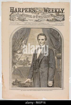 L'on. Abraham Lincoln, nato nel Kentucky, 12 Febbraio 1809 - pubblicato il 10 novembre 1860 - Winslow Homer (American, 1836-1910) pubblicato da Harper's Foto Stock