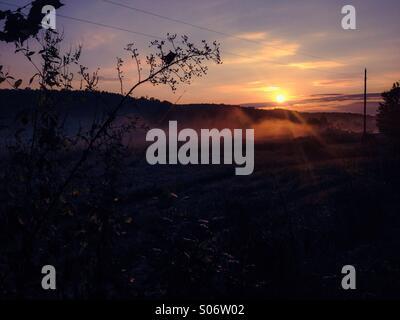 Mistico mattine di autunno Foto Stock