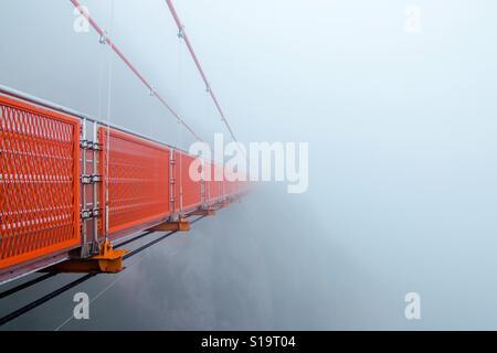 Avventura ponte cloud a wolchulsan national park, Corea del Sud Foto Stock