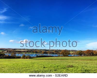 Autunno mattina su l'Isola di Wight Foto Stock