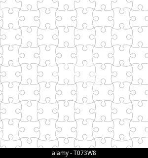 Puzzle modello. Puzzle seamless pattern. Illustrazione Vettoriale. Foto Stock