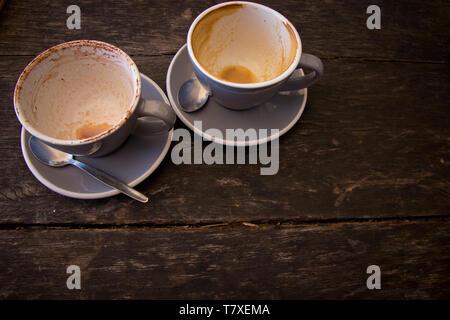 Svuotare tazza da caffè Foto Stock