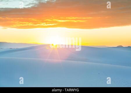 Sabbie Bianche dune nel Nuovo Messico, STATI UNITI D'AMERICA Foto Stock