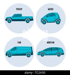 Camioncino, Microcar, van veicolo stradale, minivan multiuso vettore di automobile Foto Stock