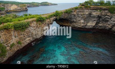 Rotto, Spiaggia di Nusa Penida Foto Stock