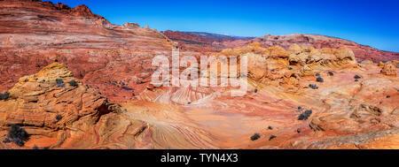 L'onda in Vermillion Cliffs, Arizona Foto Stock