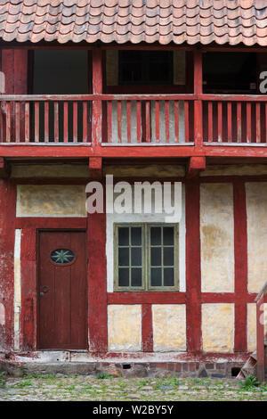 Danimarca, nello Jutland, Aarhus, Den Gamle By, ricostruire città vecchia, a struttura mista in legno e muratura edifici Foto Stock