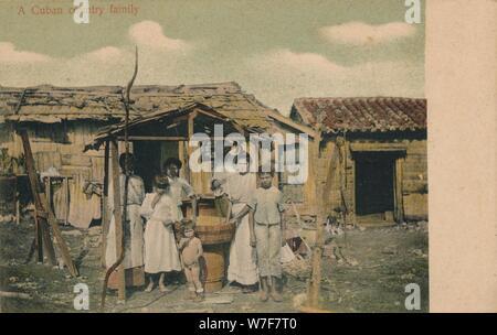 """'Un paese cubano di famiglia"""", 1908. Artista: sconosciuto. Foto Stock"""