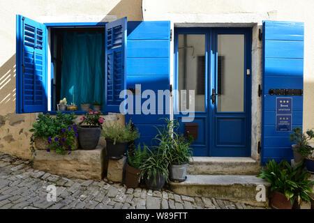 Il grazioso appartamento/ Bed and Breakfast 'Galleria' Montona nella città vecchia di Montona/ Montona, Istria, Croazia, Europa Foto Stock
