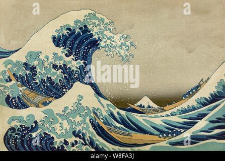 La grande onda la grande onda di Kanagawa off Foto Stock