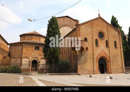 Basilica di Santo Stefano in Bologna vecchia città medievale in Italia Foto Stock