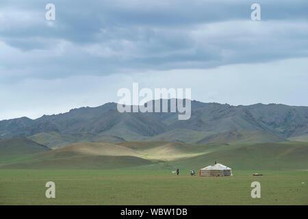 Yurta mongola Foto Stock