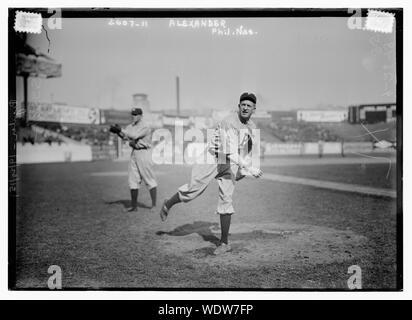 Grover Cleveland Alexander, Philadelphia, NL (baseball) Abstract/medio: 1 negativi : vetro 5 x 7 in. o inferiore. Foto Stock