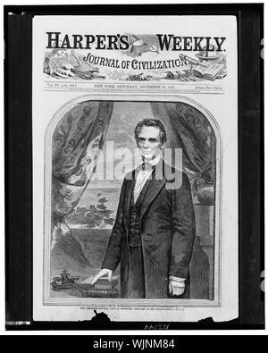 L'on. Abraham Lincoln, nato nel Kentucky, 12 Febbraio 1809 / fotografata da Brady. Foto Stock