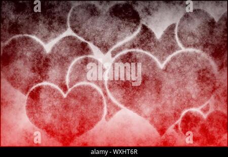 Grunge amore astratto di sfondo di cui all'arte Foto Stock
