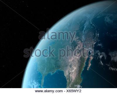 La terra dallo spazio, artwork Foto Stock