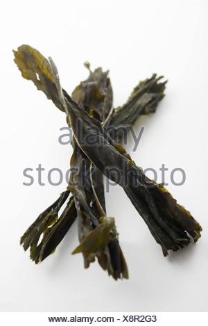 Essiccato (alghe wakame) Foto Stock