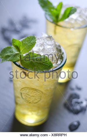 Freschi cocktail mojito in un bicchiere. Foto Stock