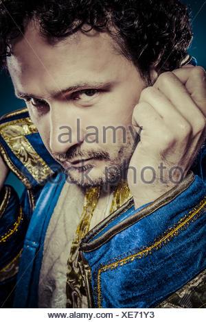 Il principe azzurro, royal concetto, divertenti immagini di fantasia Foto Stock