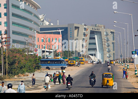 Hitec City, Hyderabad, Andhra Pradesh, India Foto Stock