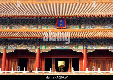 Meridian Gate, la Città Proibita di Pechino CINA Foto Stock