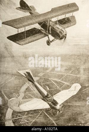 Duello aereo sul fronte occidentale Foto Stock