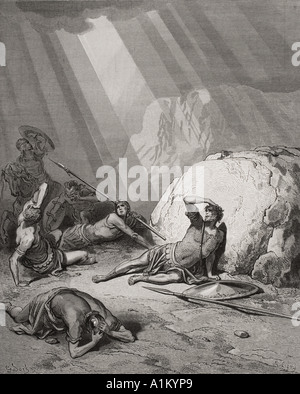 Incisione dall'Dore la Bibbia che illustra gli atti ix da 1 a 6. La conversione di san Paolo da Gustave Dore