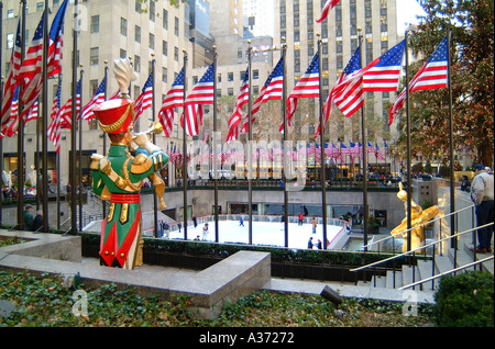 Rockefeller Plaza New York Foto Stock