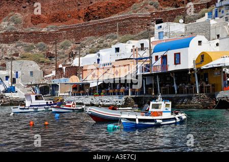 Porto di Ammoudi, Oia - Santorini, Grecia Foto Stock