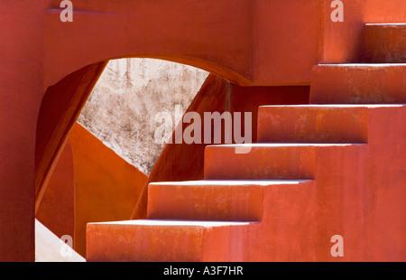 Operazioni su un edificio, Jantar Mantar, New Delhi, India Foto Stock