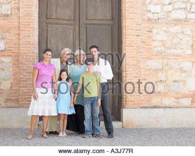 Tre generazioni la famiglia Foto Stock