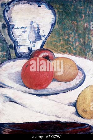 """""""Belle Arti, Gauguin, Paolo, (1848 - 1903), pittura, 'Still vita', la proprietà privata, Monaco di Baviera, storico, Foto Stock"""