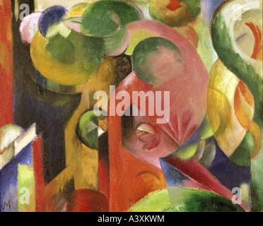 """Belle Arti, Marc Franz, (1880 - 1916), pittura, ""Kleine Komposition III' ('small composizione III""), 1913 - 1914, Foto Stock"