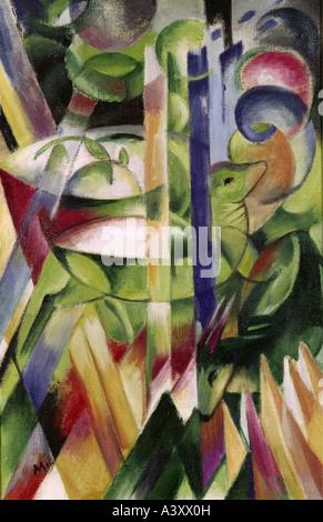 """""""Belle Arti, Marc Franz, (1880 - 1916), pittura, 'Die kleinen Bergziegen' ('il piccolo delle capre di montagna""""), Foto Stock"""