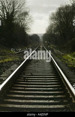 Binari del treno vicino a Rye East Sussex Regno Unito Foto Stock
