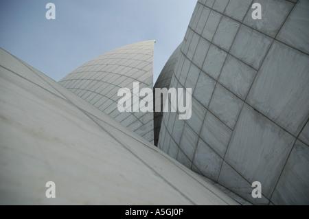 Bahai casa di culto, dettaglio, India Delhi Foto Stock