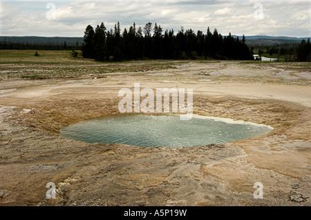 Pool di opale, Midway Geyser Basin, il Parco Nazionale di Yellowstone